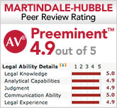 Justin McShane Martindale-Hubble rating